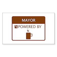 Mayor Powered by Coffee Decal