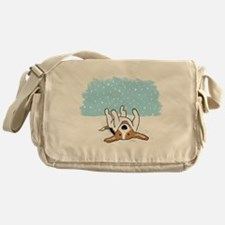 Happy Snow Beagle Messenger Bag