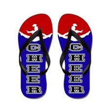Cheer Blue and Red Flip Flops