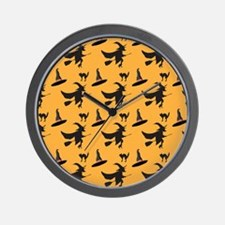 Halloween Pattern 2 Wall Clock
