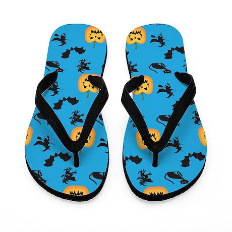 Halloween Pattern 3 Flip Flops