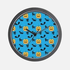Halloween Pattern 3 Wall Clock