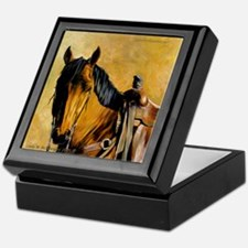 Buckskin Quarter Horse Keepsake Box