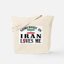Somebody In Iran Tote Bag