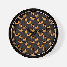 Halloween Pattern 4 Wall Clock