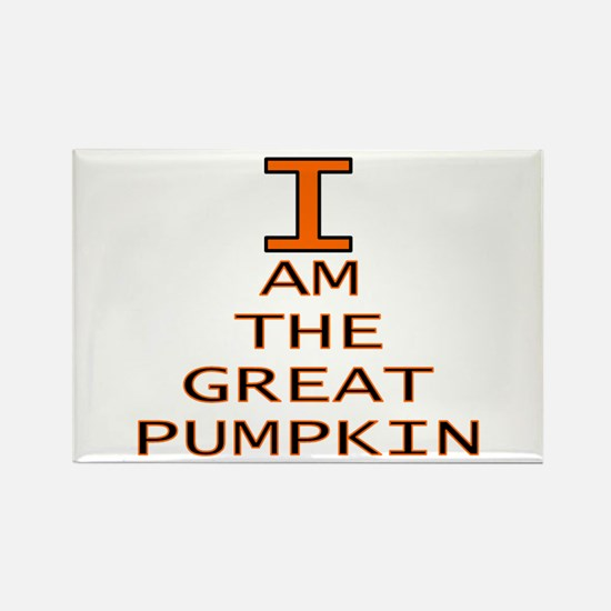 I am the Great Pumpkin Rectangle Magnet