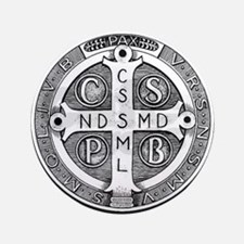 "Medal of Saint Benedict 3.5"" Button"