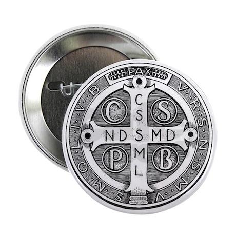 "Medal of Saint Benedict 2.25"" Button"