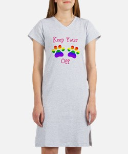 Keep Your Paws Off Women's Nightshirt