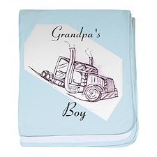 Grandpa's Boy Baby Blanket