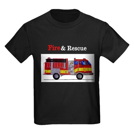 Fire and Rescue Kids Dark T-Shirt