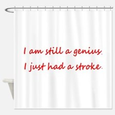 I am STILL a genius, I just had a Stroke Shower Cu