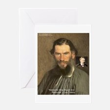 Leo Tolstoy On Nietzsche Quote Greeting Card