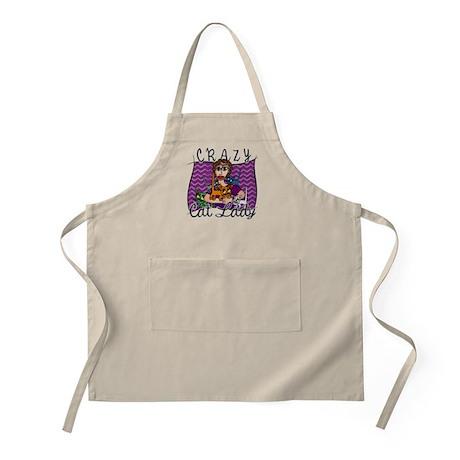 Crazy Cat Lady BBQ Apron