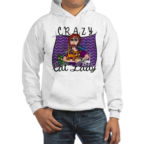 Crazy Cat Lady [Red Head] Hooded Sweatshirt