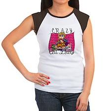 Crazy Cat Lady [Blonde] Women's Cap Sleeve T-Shirt