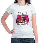 Crazy Cat Lady [Blonde] Jr. Ringer T-Shirt