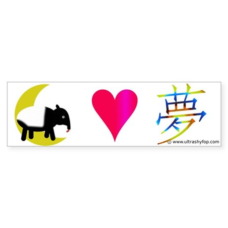 Tapir Loves Dream Sticker (Bumper)