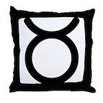 Taurus Symbol Throw Pillow