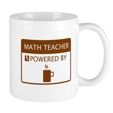 Math Teacher Powered by Coffee Small Mug