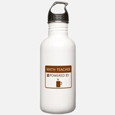 Math Teacher Powered by Coffee Water Bottle