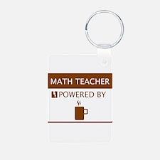 Math Teacher Powered by Coffee Aluminum Photo Keyc