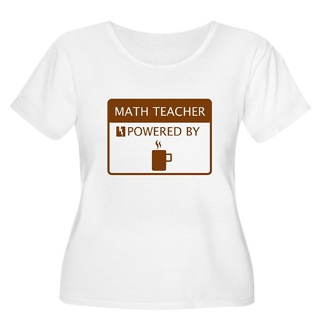 Math Teacher Powered by Coffee Women's Plus Size S