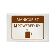 Manicurist Powered by Coffee Rectangle Magnet