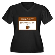 Manicurist Powered by Coffee Women's Plus Size V-N