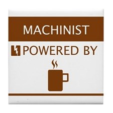 Machinist Powered by Coffee Tile Coaster