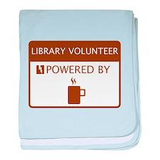 Library Volunteer Powered by Coffee baby blanket