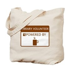 Library Volunteer Powered by Coffee Tote Bag