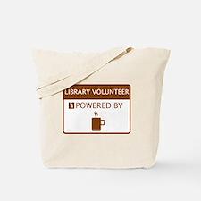 Library Volunteer Powered by Coffee Tote Bag
