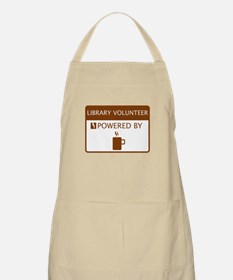 Library Volunteer Powered by Coffee Apron