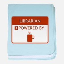 Librarian Powered by Coffee baby blanket