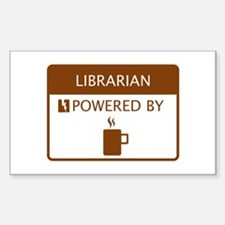 Librarian Powered by Coffee Sticker (Rectangle)