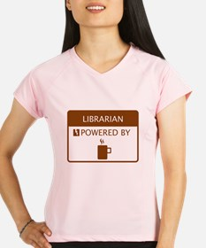 Librarian Powered by Coffee Performance Dry T-Shir