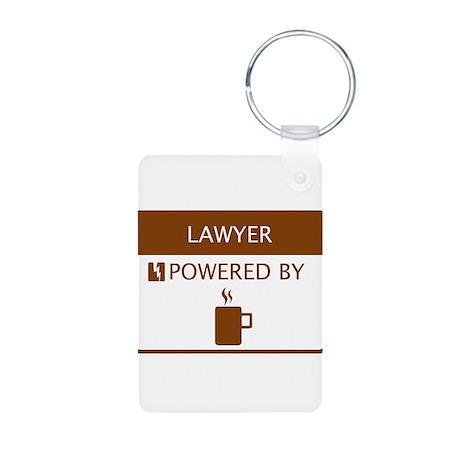 Lawyer Powered by Coffee Aluminum Photo Keychain