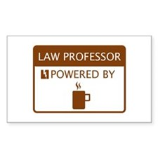 Law Professor Powered by Coffee Decal