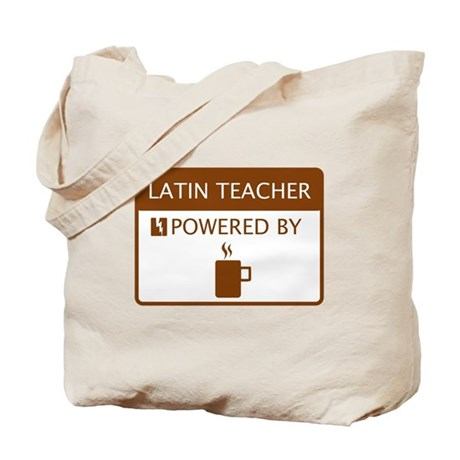Latin Teacher Powered by Coffee Tote Bag