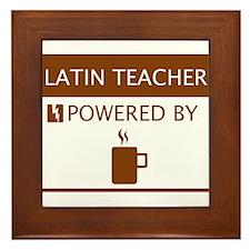Latin Teacher Powered by Coffee Framed Tile