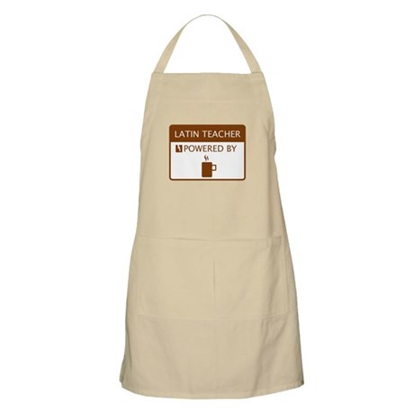 Latin Teacher Powered by Coffee Apron