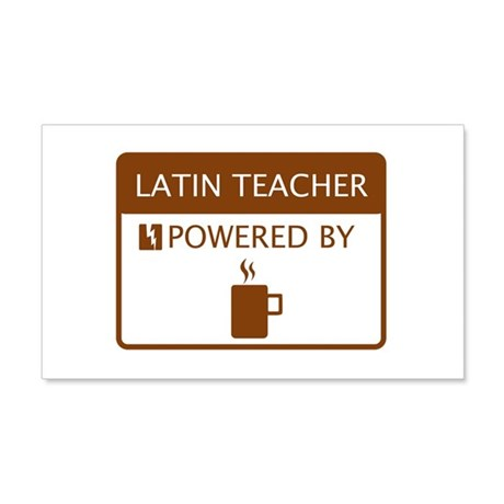 Latin Teacher Powered by Coffee 20x12 Wall Decal
