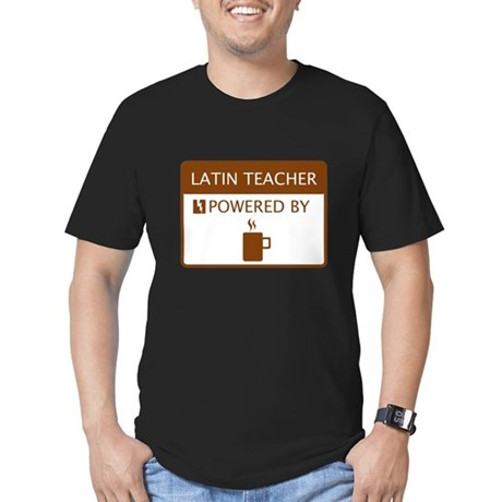 Latin Teacher Powered by Coffee Men's Fitted T-Shi