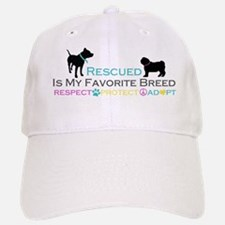 Rescued Is Favorite Breed Baseball Baseball Cap