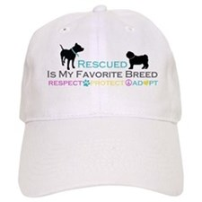 Rescued Is Favorite Breed Baseball Cap