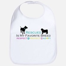 Rescued Is Favorite Breed Bib