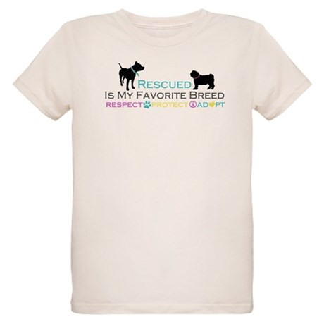Rescued Is Favorite Breed Organic Kids T-Shirt