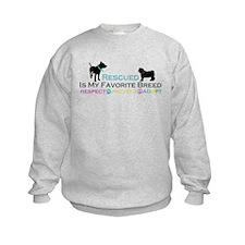 Rescued Is Favorite Breed Sweatshirt