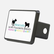 Rescued Is Favorite Breed Hitch Cover